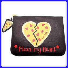 Luv Betsey Women's Pizza Tablet Pouch Black Clutch - Clutches (*Amazon Partner-Link)