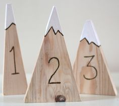 mountain table numbers by mainebranchcompany