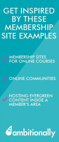Entrepreneurs, get inspired by these membership site examples from AmbitionAlly.