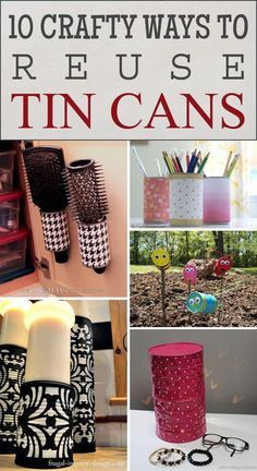 10 Crafty Ways to Reuse Tin Cans - tin can crafts - 10 Crafty Ways to Reuse Tin Cans - Upcycled Crafts, Recycled Decor, Recycled Tin Cans, Aluminum Can Crafts, Tin Can Crafts, Diy Crafts To Sell, Crafts For Kids, Crafts With Tin Cans, Aluminum Cans