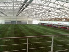 St George's 3G indoor pitch as viewed from the gym