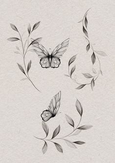 Flower Hip Tattoos, Butterfly With Flowers Tattoo, Side Tattoos, Leaf Tattoos, Body Art Tattoos, Sleeve Tattoos, Pisces Tattoo Designs, Pisces Tattoos, Pretty Tattoos