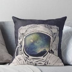 Universe Moon Pillow Case Bed Waist Cushion Cover Cafe Home Decor Gift Frugal Boys Space Bedroom, Outer Space Bedroom, Boy Room, Kids Room, Throw Pillow Covers, Throw Pillows, Moon Pillow, Bedroom Themes, Bedroom Ideas