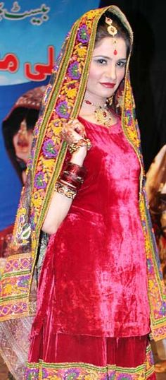 LAHORE: May09 – A model walks on ramp during Bridal Competition.