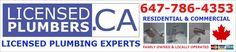 LicensedPlumbers.ca Home Page. #Mississauga #plumber #plumbing