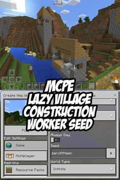 MCPE - Lazy Village Construction Crew Seed:zerofifteen