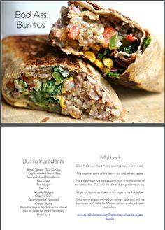 Bad-Ass Burritos recipe from HCH High Carb Hannah