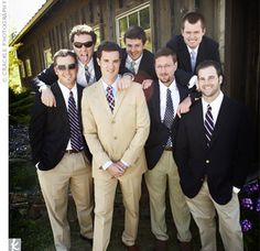 I like the blue blazers and khakis for the guys.