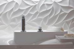 the texture on the wall create an awesome look in the wash area of bathroom Clawfoot Tub Bathroom, Wooden Bathroom, Bathrooms, Bathroom Interior, Interior Design Living Room, Ceiling Murals, 3d Wall Panels, Tiles Texture, Paint Colors For Living Room