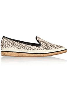 Nicholas Kirkwood - Raffia-effect point-toe flats Accessorize Shoes, Nicholas Kirkwood Shoes, Spanish Espadrilles, What A Girl Wants, Tomboy Fashion, Pointed Toe Flats, Dressed To Kill, Oakley Sunglasses, Chic