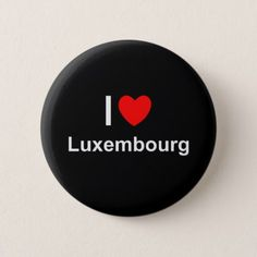 #country - #I Love Heart Luxembourg Button