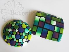 By Bounette, made from polymer clay. Look at these colors!!!