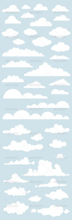 Cloudy Collection — Vector EPS #blue #cloudy • Available here → https://graphicriver.net/item/cloudy-collection/160400?ref=pxcr