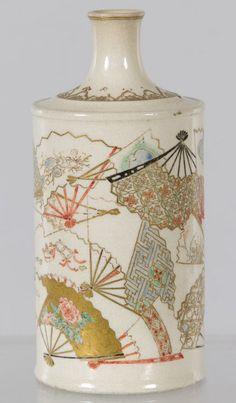 satsuma pottery | Satsuma Pottery Bottle Vase