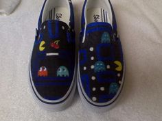 Pacman shoes hand painted