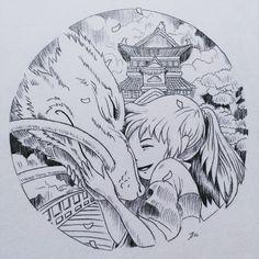 Endless Summer – World Of Games Studio Ghibli Tattoo, Studio Ghibli Art, Studio Ghibli Movies, Tattoo Studio, Art Sketches, Art Drawings, Tattoo Sketches, Anime Kunst, Anime Art