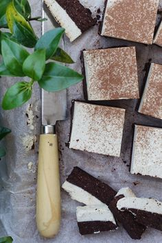 raw vegan tiramisu brownie slice #vegan #raw