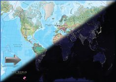 World map motion poster night day an innovative world poster motion world map poster gumiabroncs Gallery
