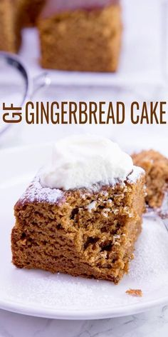 Gluten Free Gingerbread Cake — with Ginger, Cinnamon and Molasses Moist and tender gluten free gingerbread cake, perfectly spiced and ready for the holidays or any time at all. Make this easy snack cake in one bowl! Cookies Gluten Free, Gluten Free Deserts, Gluten Free Sweets, Gluten Free Cakes, Foods With Gluten, Gluten Free Cooking, Gluten Free Recipes, Gluten Free Gingerbread Cookies, Gluten Free Christmas Recipes