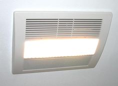 NuTone LunAura Square Panel Decorative White CFM Exhaust Bath - Panasonic 110 cfm bathroom fan