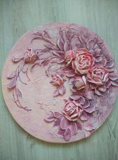 Basic Painting, Texture Painting, Sculpture Painting, Mural Painting, Clay Wall Art, Clay Art, Cold Porcelain Flowers, Plaster Art, Paris Art