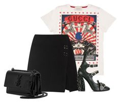 Untitled #4428 by ericacavaco12 on Polyvore featuring moda, Gucci, Acne Studios and Yves Saint Laurent