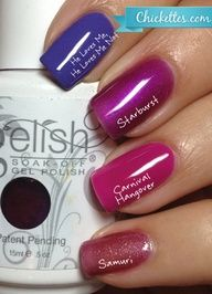 Chickettes.com Gelish purple comparisons