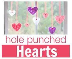 Seasonal Activity of the Week: Hole Punched Hearts - pinned by @PediaStaff – Please Visit  ht.ly/63sNt for all our pediatric therapy pins