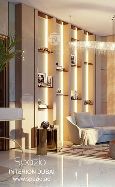 Luxury interior design for living room seating. The interior design and decor was created by Spazio interior design company in Dubai UAE in 2018. You can order luxury interior desing for your house in Dubai. Visit our website to get inspiration and ideas.