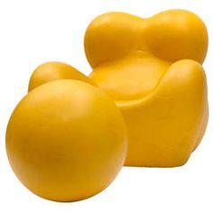 Perfekt Rare Yellow UP5 6 U0027Upu0027 Armchair And Ottoman By Gaetano Pesce For B B Italia