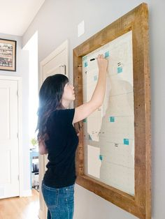 Create a family hub and stay organized with a calendar and message create a family hub and stay organized with a calendar and message board in the mudroom back to school pinterest best mudroom and organizing ideas solutioingenieria Image collections