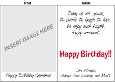 Photo Upload Card! Make it your own! Available in 2', 3', and 4' sizes. FREE SHIPPING!
