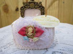 Queens Musical Handbag Light Pink Musical Handbag by MemaAntiques