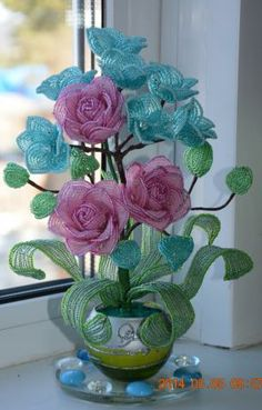 RP: Tenderness - French Beads Braiding Crystal Gem Roses Plant