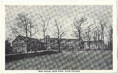 High Point NC High School Vintage Postcard North Carolina