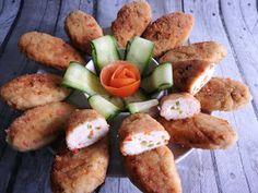 Kulinarna Chwila: Kotleciki z kurczaka z papryką i mozzarellą Mozzarella, Chili, Sausage, Meat, Chicken, Food, Recipes, Chile, Sausages