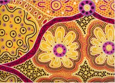 Floral fabric - aboriginal art - color and pattern inspiration