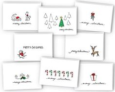 22 Handmade Calligraphy Christmas Cards | DIY Christmas Cards DIYReady.com | Easy DIY Crafts, Fun Projects, & DIY Craft Ideas For Kids & Adults