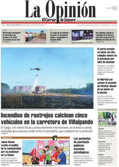 Portada de La Opinión-El Correo de Zamora del jueves 08/09/2016. Más noticias en www.laopiniondezamora.es