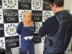 Homem usava disfarce para cometer assaltos a banco (Foto: Polícia Civil/Divulgação)