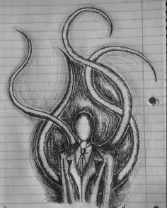 i will say slenderman looks easy to draw Scary Drawings, Dark Art Drawings, Art Drawings Sketches, Pencil Drawings, Arte Horror, Horror Art, Eyeless Jack, Slender Man, Horror Drawing