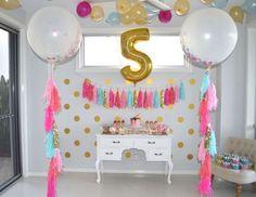 "Pink, Aqua, Gold + Ice Cream / Birthday ""Mia's 5th Birthday Party""   Catch My Party"