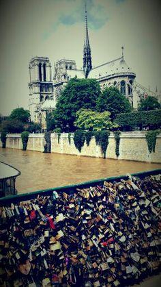 Notre Dame bridge of locked love