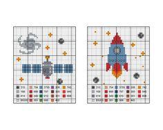 Hoje fazemos uma invasão ao seu dia com este esquema de ponto de cruz inspirado no espaço. Com uma colcha de algodão para bordar, em ...