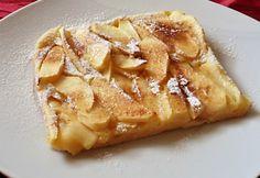 Almás tepsis palacsinta recept képpel. Hozzávalók és az elkészítés részletes leírása. Az almás tepsis palacsinta elkészítési ideje: 30 perc