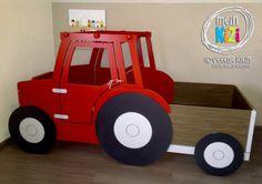 Traktorbett, Treckerbett in Wunschgröße und -Farbe