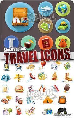 Путешествия иконки - Векторный клипарт