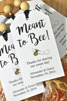 Meant To Bee Wedding Favor Tags, Bridal Shower Favor Tags, Thank You Tags, Bumble Bee Party Favors, Personalized Wedding Favors - Set of 12 Inexpensive Wedding Favors, Elegant Wedding Favors, Beach Wedding Favors, Personalized Wedding Favors, Wedding Favors For Guests, Wedding Favor Tags, Bridal Shower Favors, Bridal Showers, Wedding Ideas