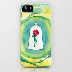 Beauty and the Beast Enchanted Rose iPhone Case by foreverwars - $35.00