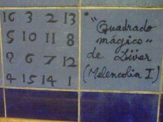 Durer's magic square on a wall tile, Parque metro station, Lisbon Fun Math, Math Games, Magic Squares, Metro Station, Wall Tiles, Science, Lisbon, Parks, Tiles